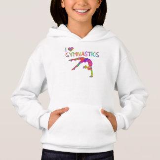 I Love Gymnastics Tie Dye Hoodie
