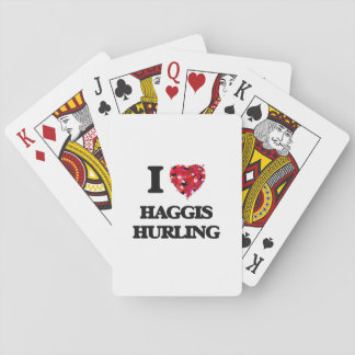 I Love Haggis Hurling Playing Cards