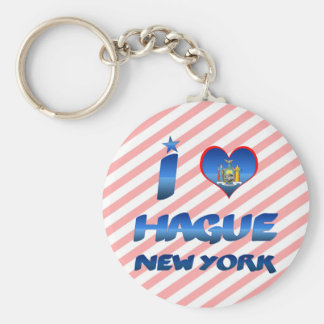 I love Hague, New York Keychain