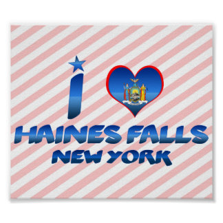 I love Haines Falls, New York Poster
