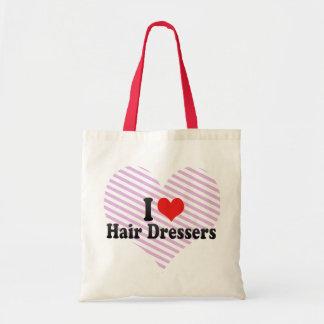 I Love Hair Dressers Tote Bags