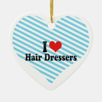 I Love Hair Dressers Christmas Tree Ornaments