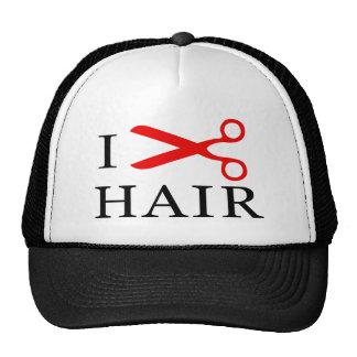 I Love Hair, I Cut Hair, I love Barbers, I Love Trucker Hat