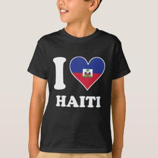 I Love Haiti Haitian Flag Heart T-Shirt