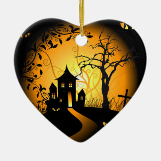 I love Halloween Ceramic Ornament