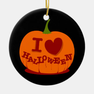 I Love Halloween Ornament