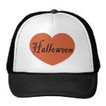 I Love Halloween With Orange Halloween Heart