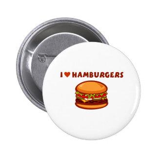 I Love Hamburgers 2 Inch Round Button