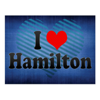 I Love Hamilton, Canada Postcard