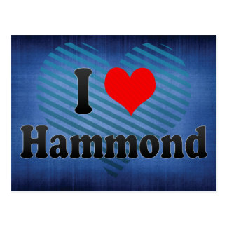 I Love Hammond, United States Postcard