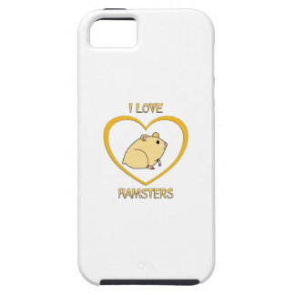 I Love Hamsters Case For The iPhone 5