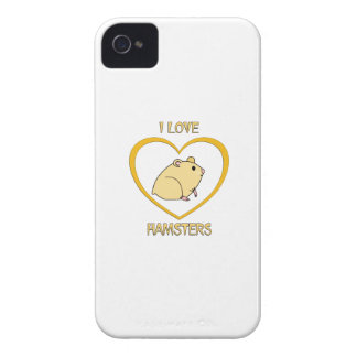 I Love Hamsters iPhone 4 Case-Mate Cases
