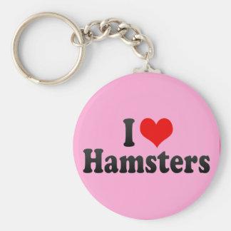 I Love Hamsters Keychain
