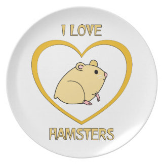 I Love Hamsters Plate