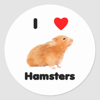 I love hamsters Sticker