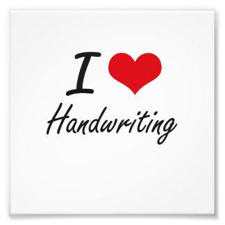 I love Handwriting Photographic Print