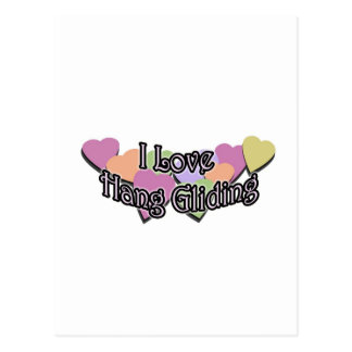 I Love Hang Gliding Postcard