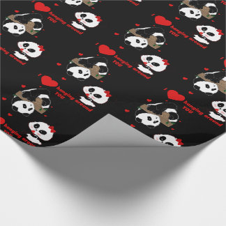I love hanging around you Pandas Wrapping Paper