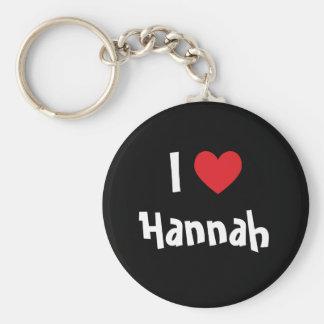 I Love Hannah Keychain