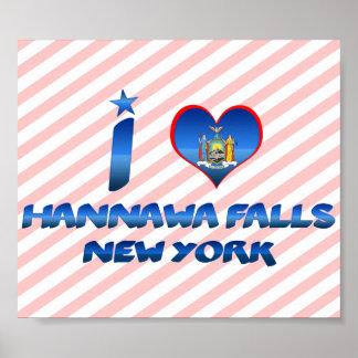 I love Hannawa Falls, New York Print