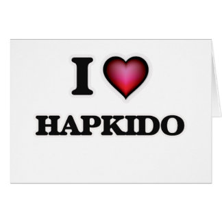 I Love Hapkido Card
