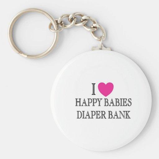 I Love Happy Babies Diaper Bank Key Chain