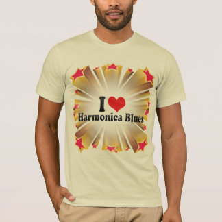 I Love Harmonica Blues T-Shirt