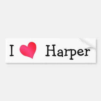 I Love Harper Bumper Sticker