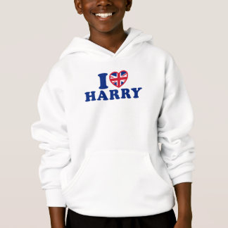 I Love Harry Girls Hooded Sweatshirt