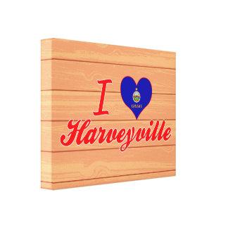 I Love Harveyville, Kansas Canvas Print