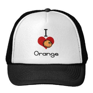 I love-hate orange hat
