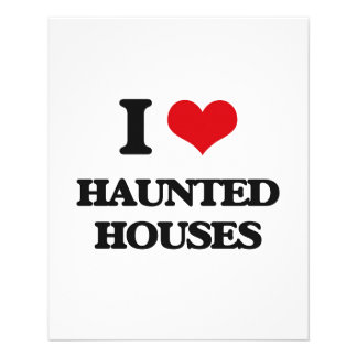 I love Haunted Houses Personalized Flyer
