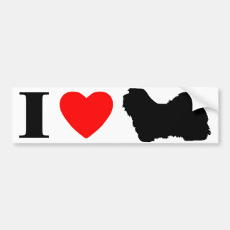 I Love Havanese Bumper Sticker