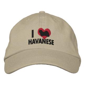 I Love Havanese Embroidered Hat