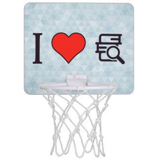 I Love Having Stack Of Books Mini Basketball Hoop