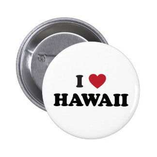 I Love Hawaii 2 Inch Round Button