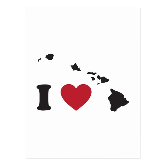 I Love Hawaii Postcard