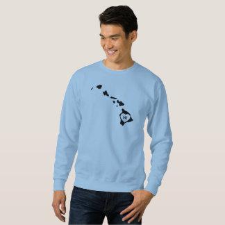 I Love Hawaii State White Men's Sweatshirts