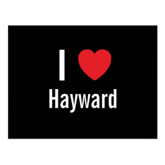 I love Hayward Postcard