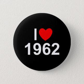 I Love (Heart) 1962 2 Inch Round Button