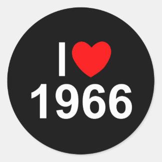I Love (Heart) 1966 Classic Round Sticker