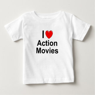 I Love Heart Action Movies Baby T-Shirt