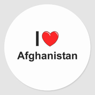 I Love Heart Afghanistan Classic Round Sticker