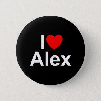 I Love (Heart) Alex 2 Inch Round Button