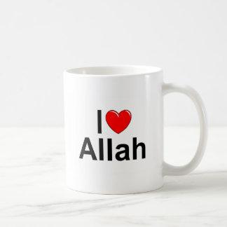 I Love (Heart) Allah Basic White Mug