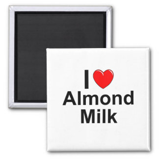 I Love Heart Almond Milk Magnet