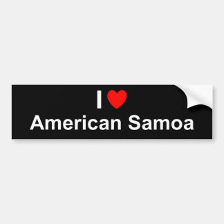 I Love Heart American Samoa Bumper Sticker