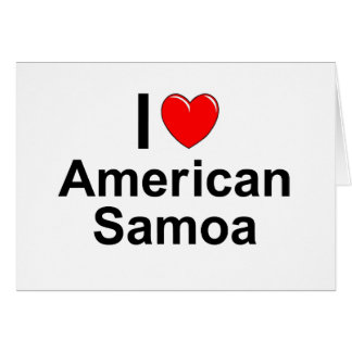 I Love Heart American Samoa Card