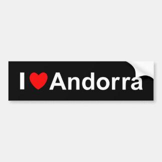 I Love Heart Andorra Bumper Sticker