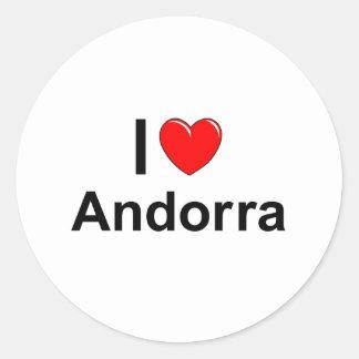 I Love Heart Andorra Classic Round Sticker